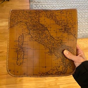 Patricia Nash world map leather purse.